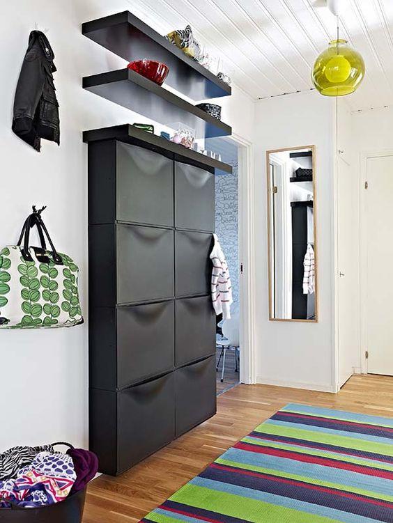 hallways with shoe rack 3
