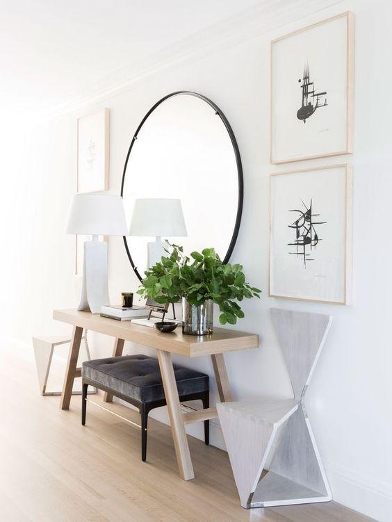 fotos de recibidores con espejo recibidores decorados On recibidores con espejos redondos
