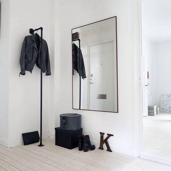 recibidores con espejo