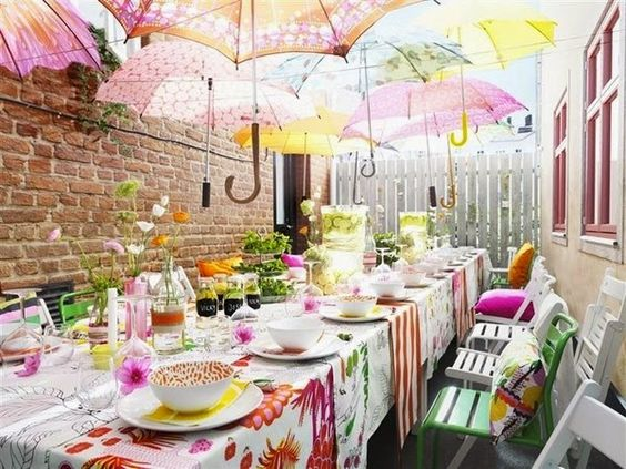 Reciclar paraguas decoración