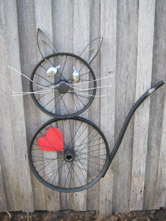 Ruedas de bicicleta recicladas