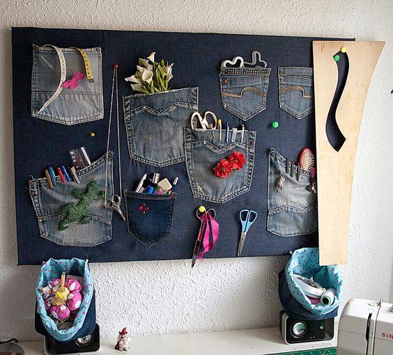 Organizadores de pared con jeans
