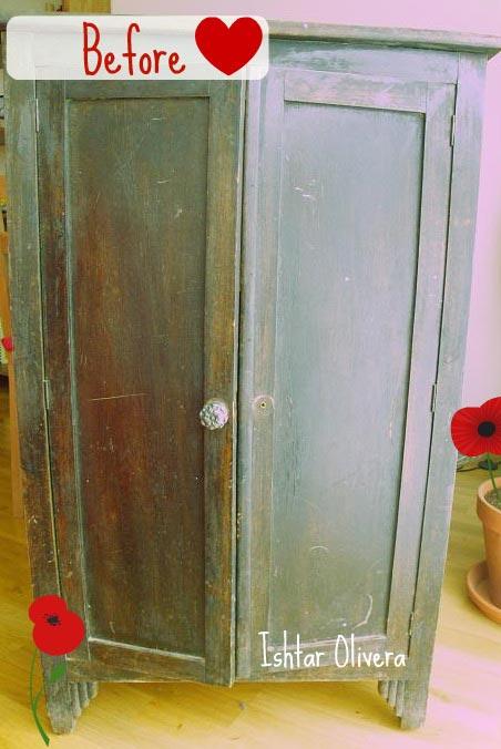 Nueva vida para un viejo armario - Armarios pintados a mano ...