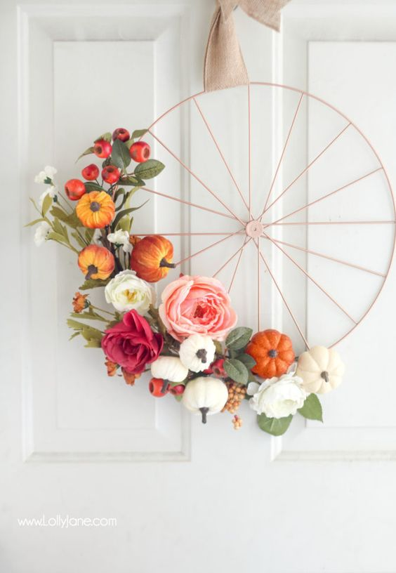 Ruedas de bicicletas decoradas con flores
