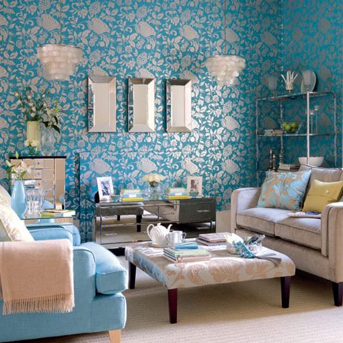 Salones decorados en azul