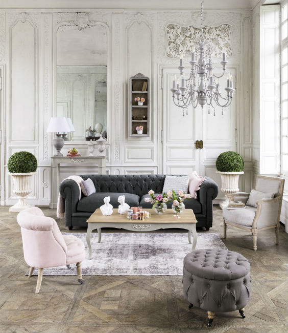 decoración salón vintage clásica