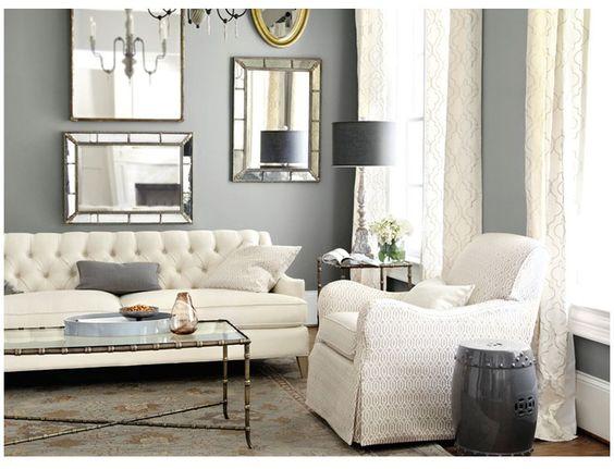 Salones en gris elegantes