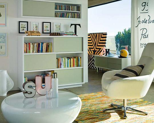 Salones con librer as opciones y consejos de decoraci n for Librerias para salon