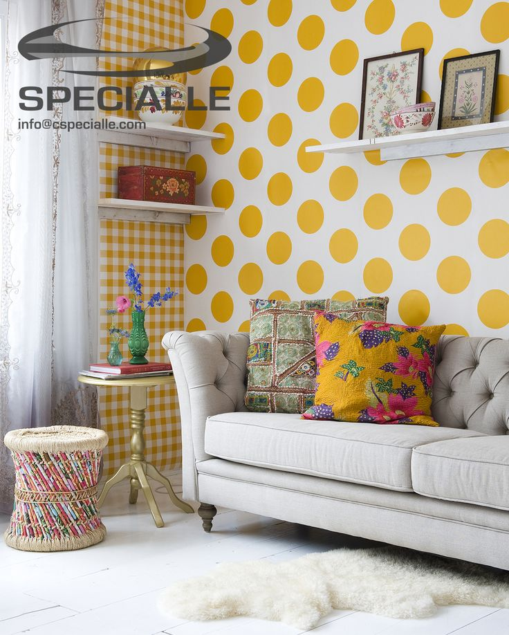 Las 10 puertas m s originales decoraci n hogar for Polka dot living room ideas