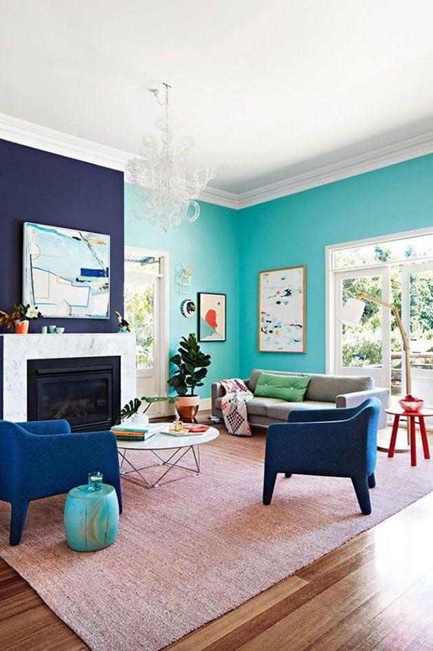 Salones: dos tonos de azul