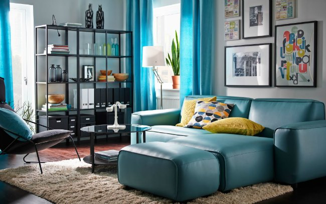 Salones ikea 2016 decoraci n hogar for Turquoise and mustard living room