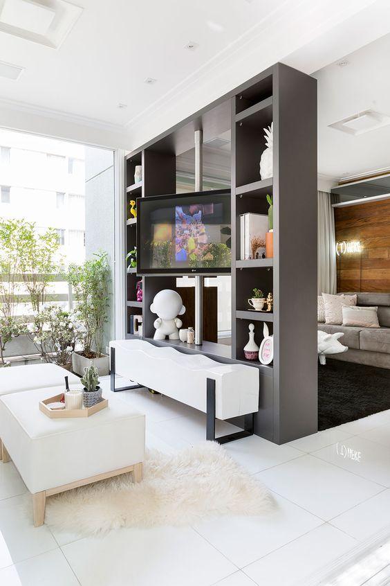 Separar ambientes sin obras decoraci n hogar - Estanterias para separar ambientes ...
