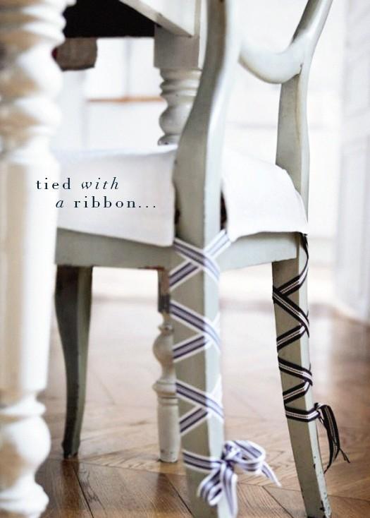 Idea para decorar las sillas