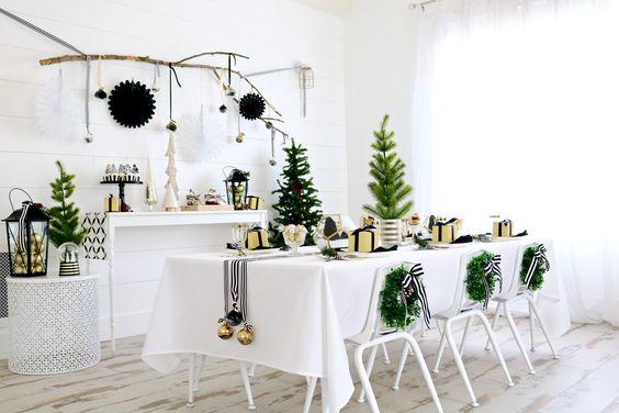 Decoración de sillas en Navidad