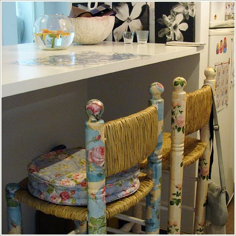 Sillas decoradas con decoupage