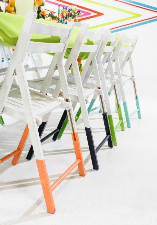 Se llevan las sillas con las patas pintadas