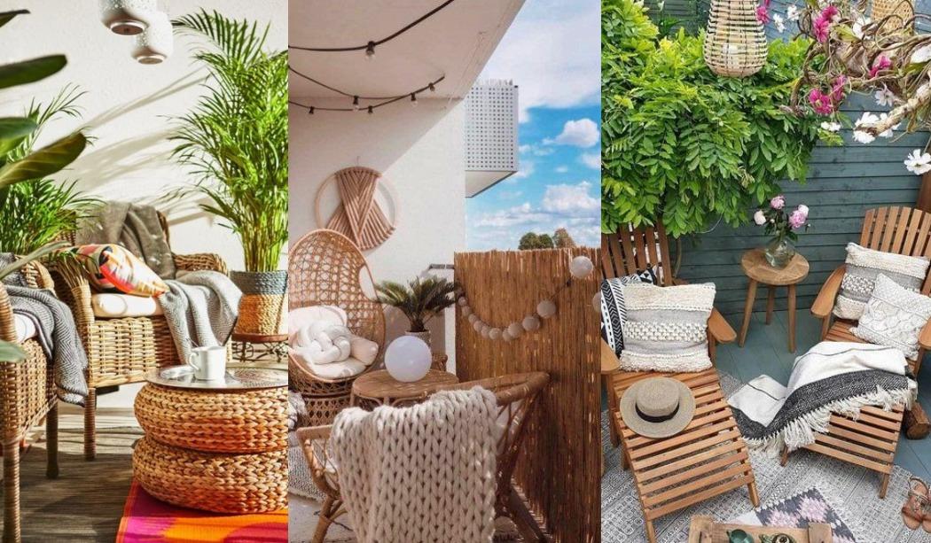 Exteriores relajantes con sillones reclinables para terraza