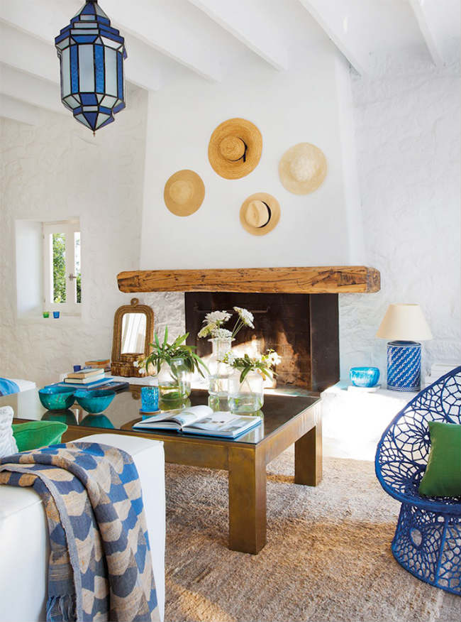 Decorar paredes con sombreros