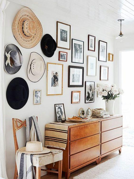 Decorar paredes con sombreros