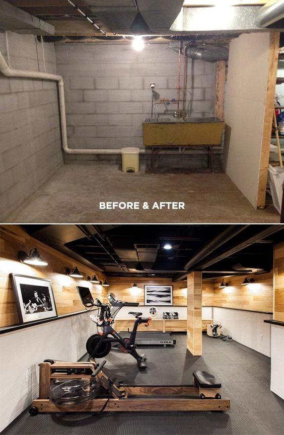 Sótanos reformados antes y después