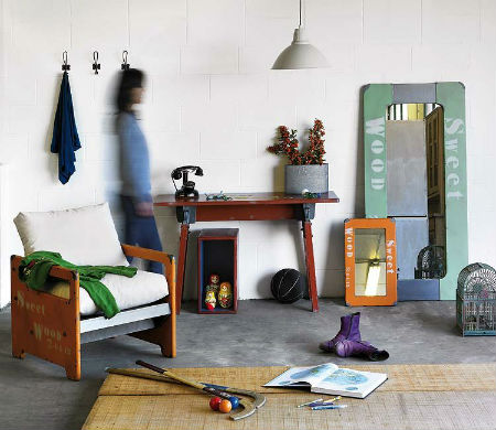 Sweet wood muebles de estilo industrial for Muebles de efecto industrial