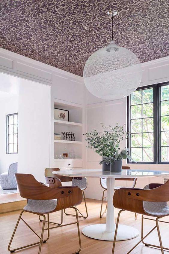 Techos protagonistas de la decoraci n 40 fotos de techos - Papel para techos ...