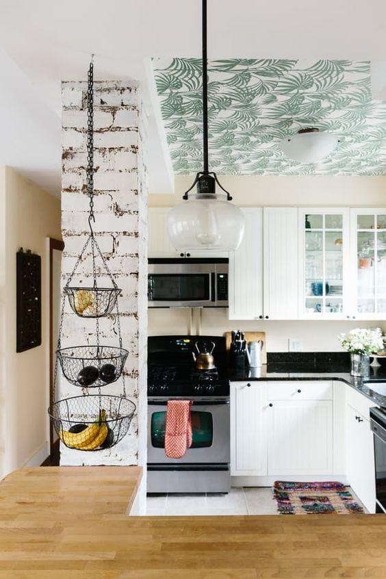 Techos decorados con papel
