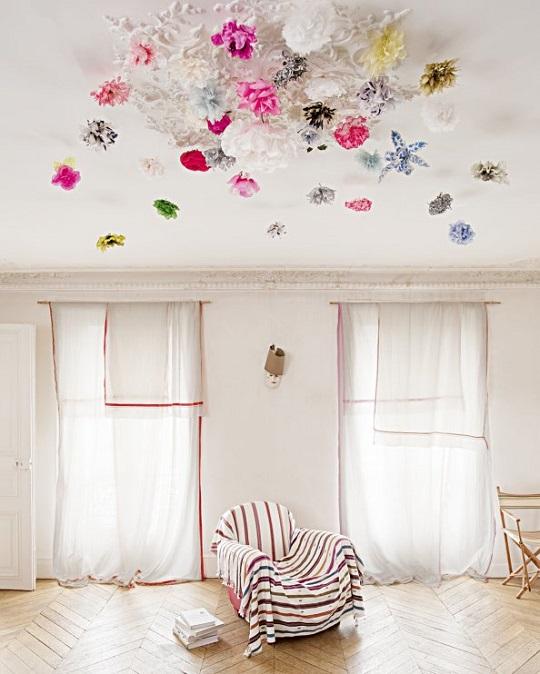 Un techo lleno de flores