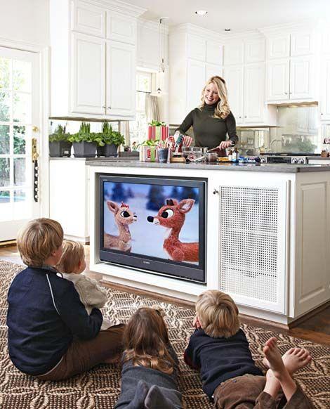 TV en isla de cocina