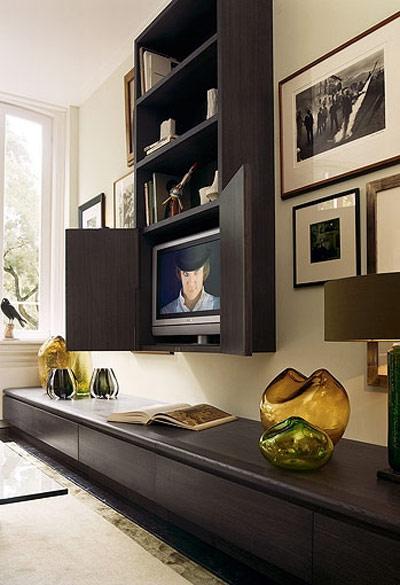 Idea para ocultar la tele del sal n - El armario de la tv ...