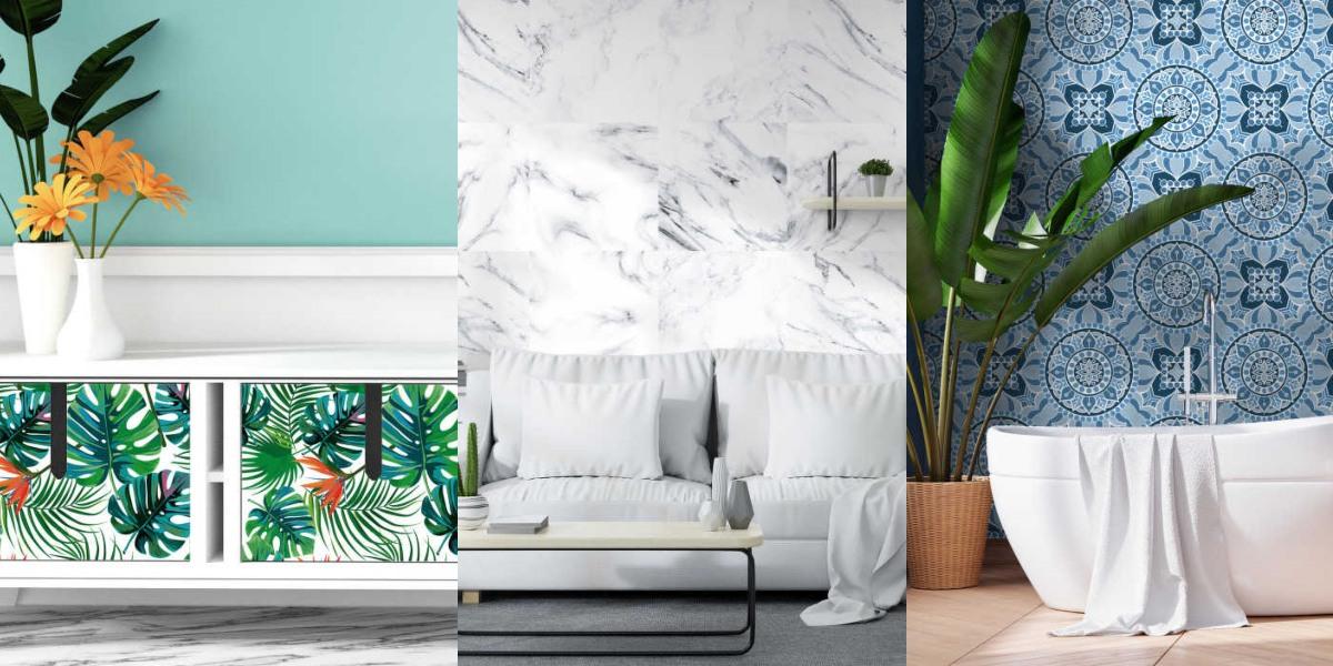 Vinilos y papel pintado para cambiar la apariencia de objetos y habitaciones