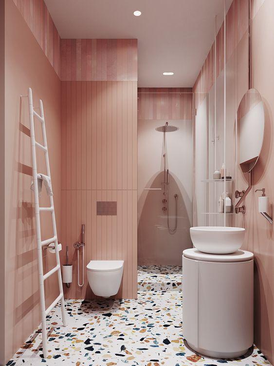 Terrazo en el baño