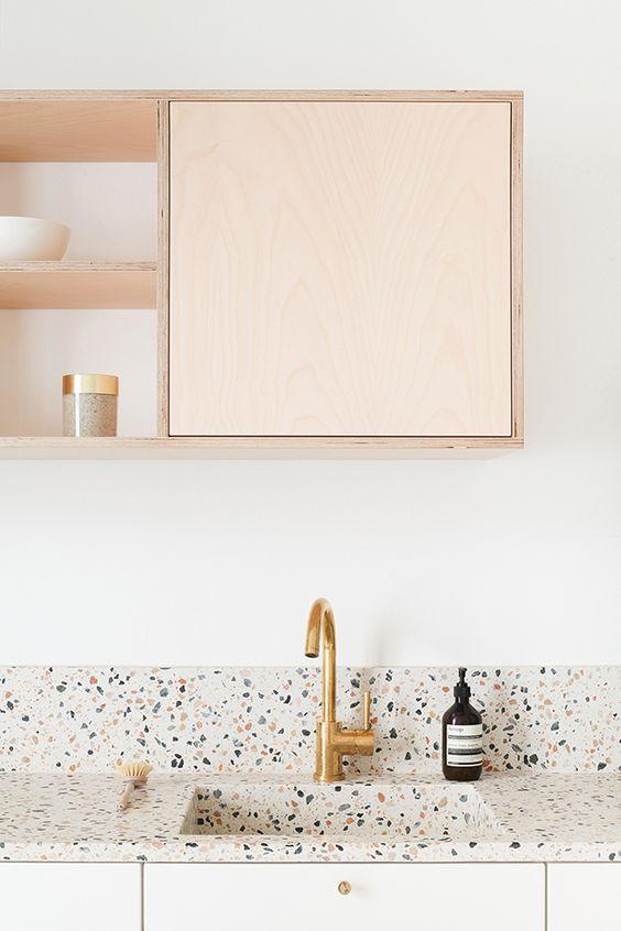 Terrazo en la cocina