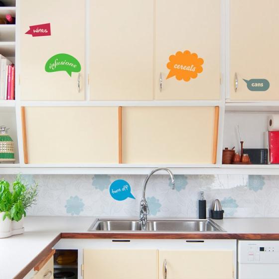 Vinilos para los armarios de la cocina for Vinilos para banos y cocinas