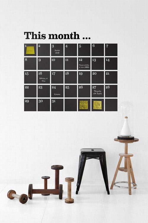 Vinilo calendario
