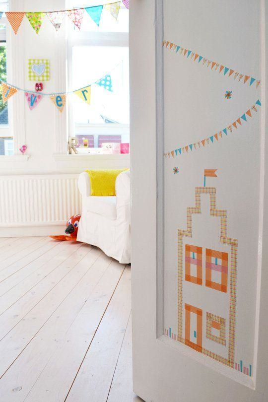 Ideas de decoración infantil con washi tape