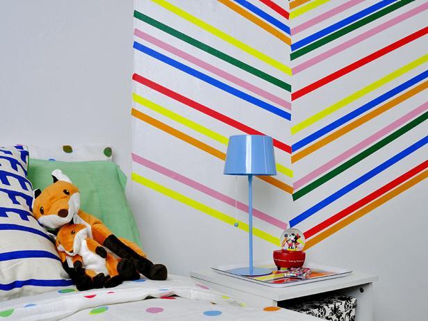 Washi Tape pared niños