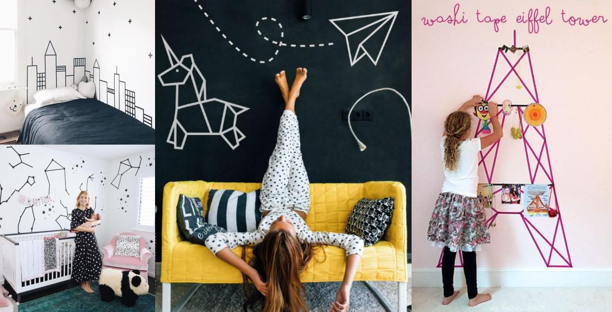 Ideas de decoración infantil con washi tape