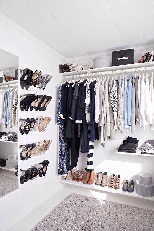 Ideas para organizar zapatos en la pared