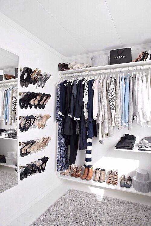 Ideas para organizar zapatos en la pared