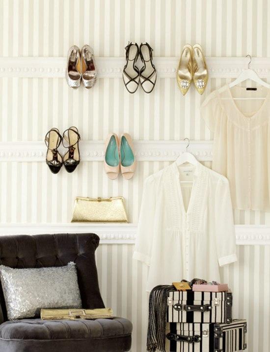 Cómo hacer un organizador de zapatos de pared