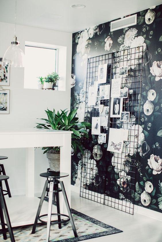 Zona de trabajo en blanco y negro